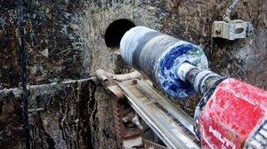 Wir führen  unter anderem  Kernbohrungen für Kabelschächte und Rohre durch.